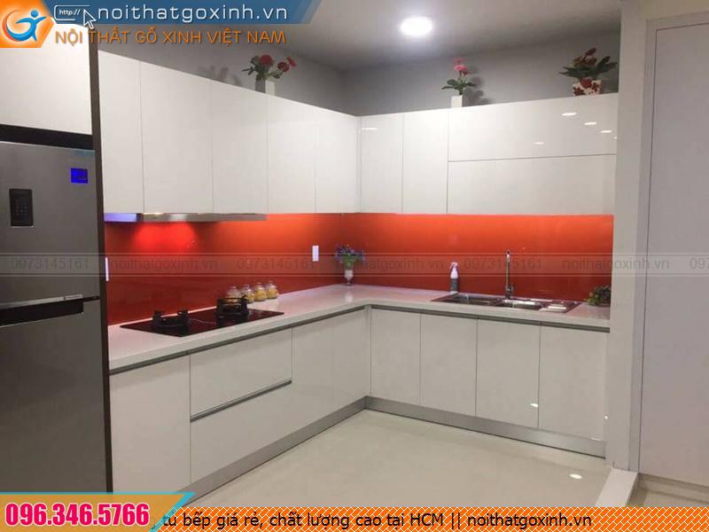 Đóng tủ bếp giá rẻ, chất lượng cao tại HCM
