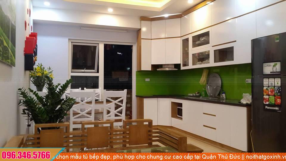 Lựa chọn mẫu tủ bếp đẹp, phù hợp cho chung cư cao cấp tại Quận Thủ Đức
