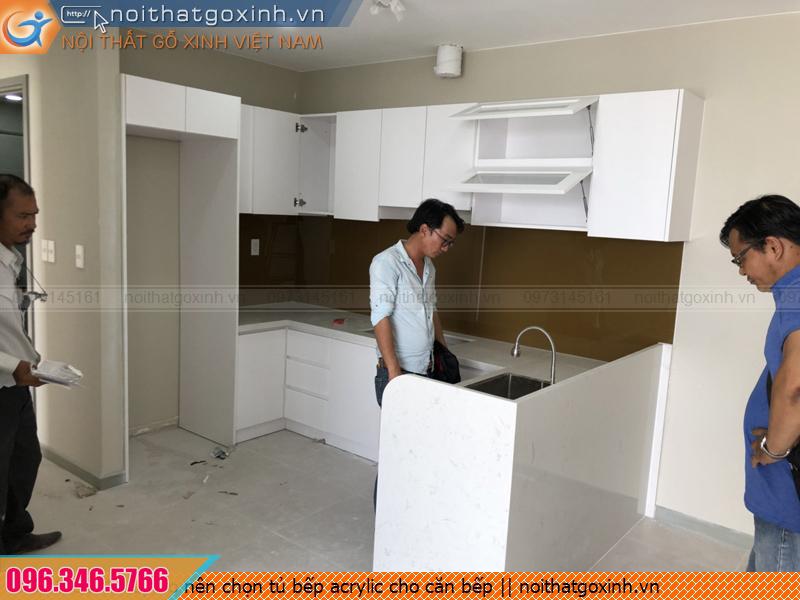 Lý do nên chọn tủ bếp acrylic cho căn bếp