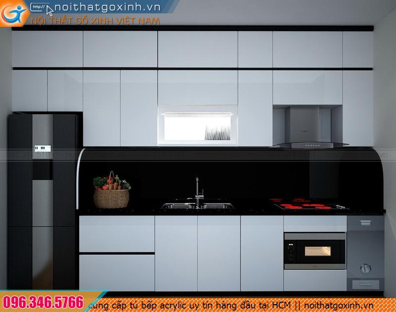 Nơi cung cấp tủ bếp acrylic uy tín hàng đầu tại HCM