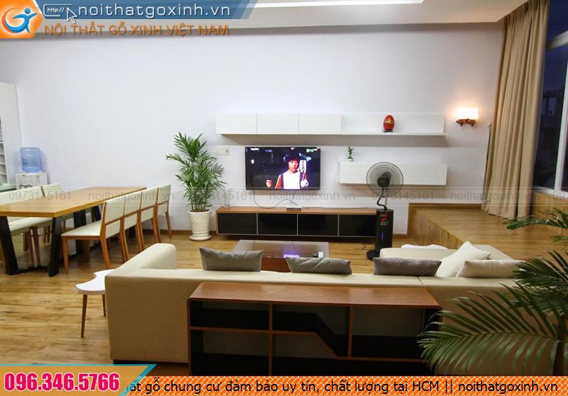 Nội thất gỗ chung cư đảm bảo uy tín, chất lượng tại HCM