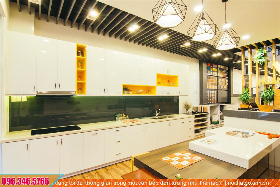 Tận dụng tối đa không gian trong một căn bếp đơn tường như thế nào?