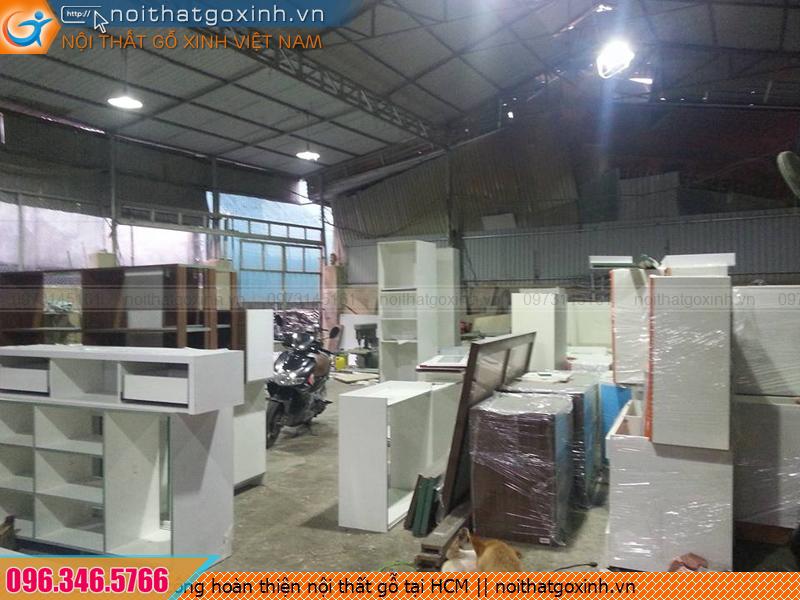 Thi công hoàn thiện nội thất gỗ công nghiệp giá rẻ tại HCM