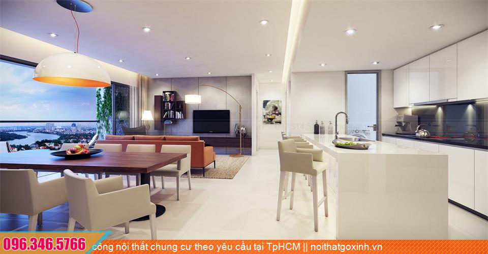 Thi công nội thất chung cư theo yêu cầu tại TpHCM