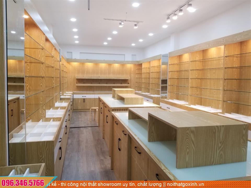 Thiết kế - thi công nội thất showroom uy tín, chất lượng