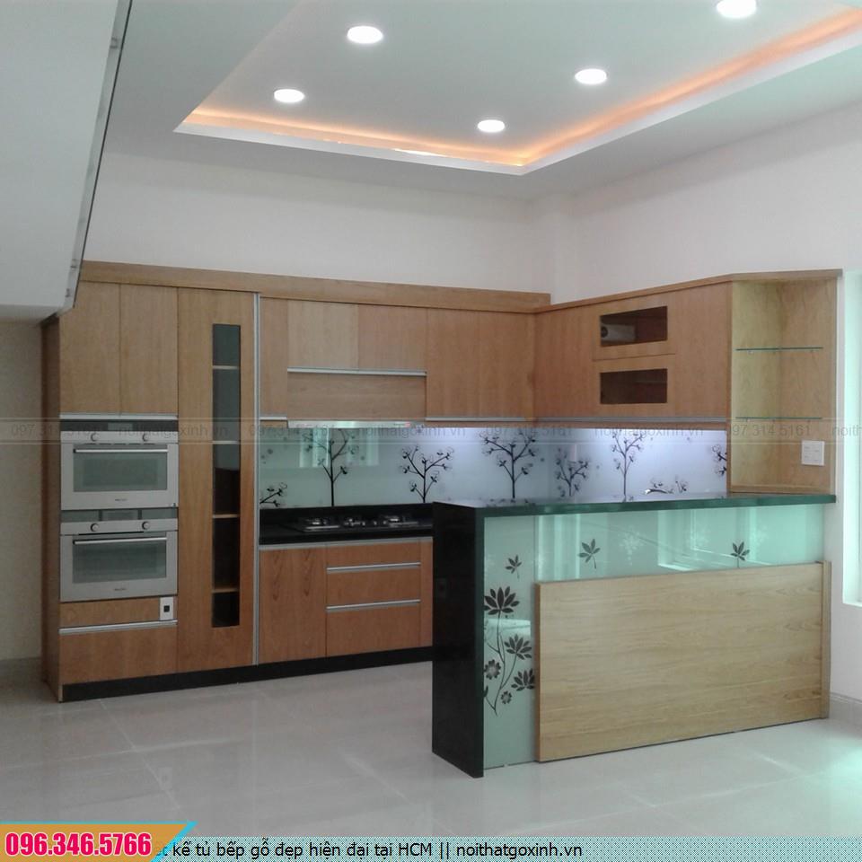Thiết kế tủ bếp đẹp hiện đại tại HCM
