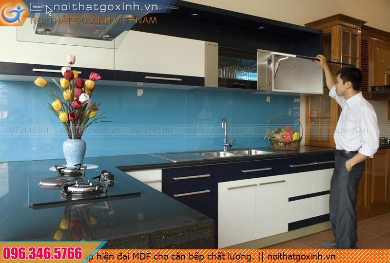 Tủ bếp hiện đại MDF cho căn bếp chất lượng.
