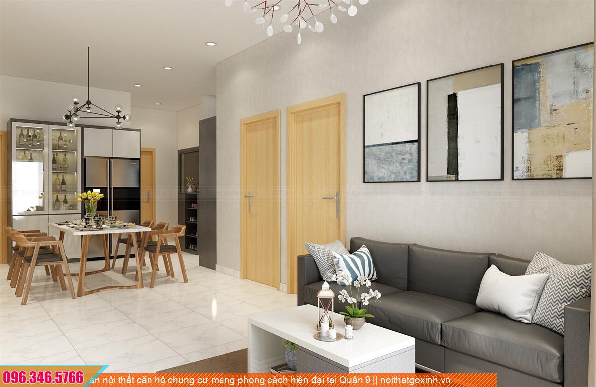 Dự án nội thất căn hộ chung cư mang phong cách hiện đại tại Quận 9 08312025R
