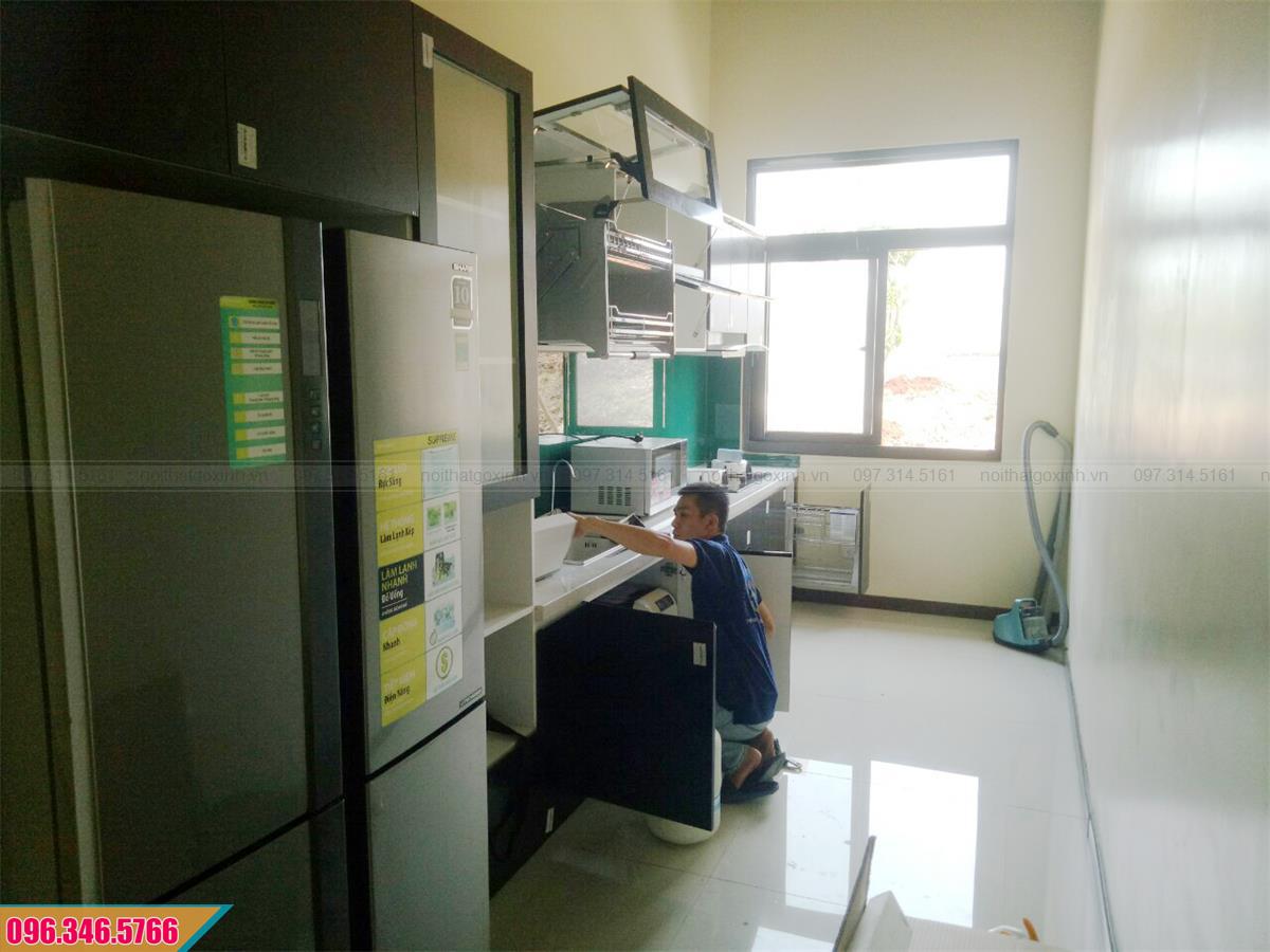 Dự án thiết kế thi công tủ bếp nhà chị Hạnh, Nhà Bè TpHCM