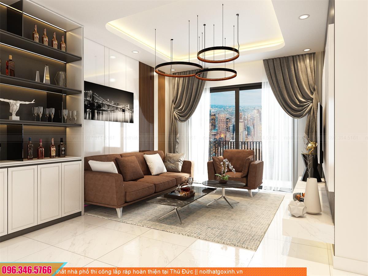 Nội thất nhà phố thi công lắp ráp hoàn thiện tại Thủ Đức 4431203VE