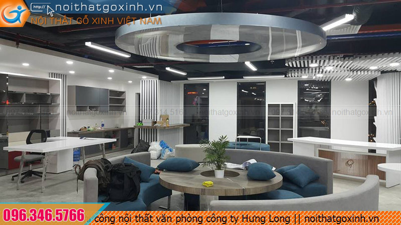 Thi công nội thất văn phòng công ty Hưng Long