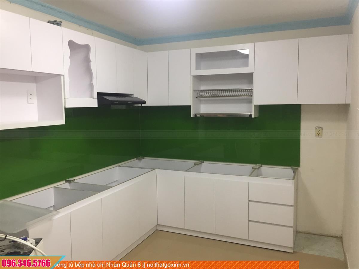 Thi công tủ bếp nhà chị Nhàn Quận 8 503020JGD