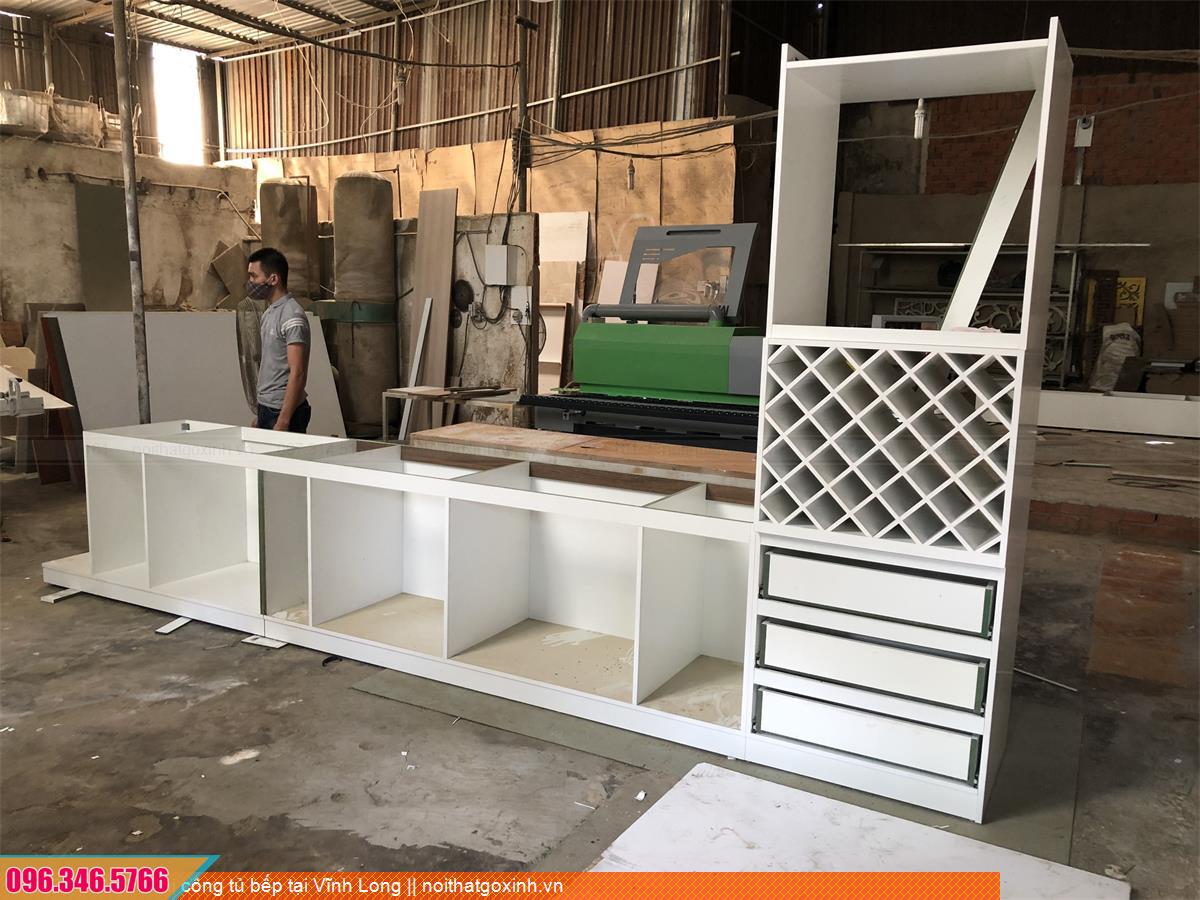 Thi công tủ bếp tại Vĩnh Long 593020Y5J