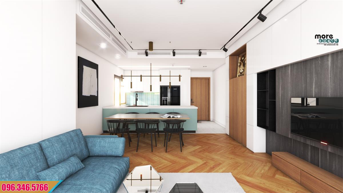 Thiết kế thi công nội thất chung cư Palm City Q2 TpHCM