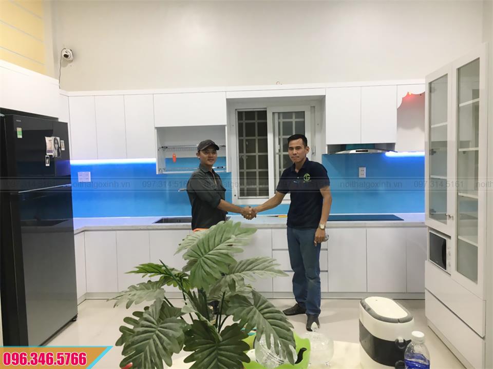 Thiết kế thi công trọn gói tủ bếp nhà anh Tuấn tại Bến Tre